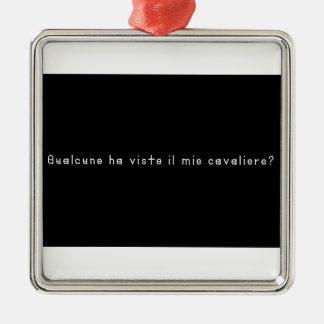 Ornement Carré Argenté Italien-Chevalier