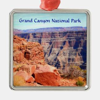 Ornement Carré Argenté Jante occidentale de parc national de canyon grand