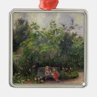 Ornement Carré Argenté Jardin de Camille Pissarro   à l'ermitage