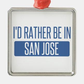 Ornement Carré Argenté Je serais plutôt dans San Jose