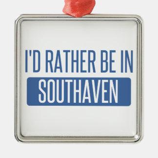 Ornement Carré Argenté Je serais plutôt dans Southaven