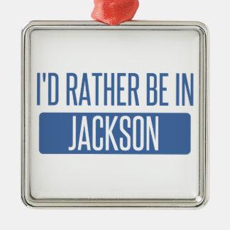 Ornement Carré Argenté Je serais plutôt en milliseconde de Jackson