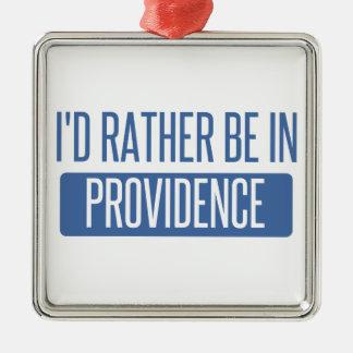 Ornement Carré Argenté Je serais plutôt en Providence