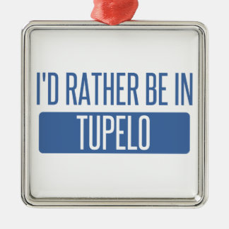 Ornement Carré Argenté Je serais plutôt en Tupelo