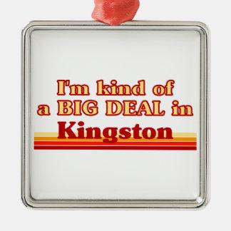 Ornement Carré Argenté Je suis un peu une affaire à Kingston