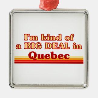 Ornement Carré Argenté Je suis un peu une affaire au Québec