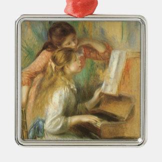 Ornement Carré Argenté Jeunes filles au piano par Pierre Renoir