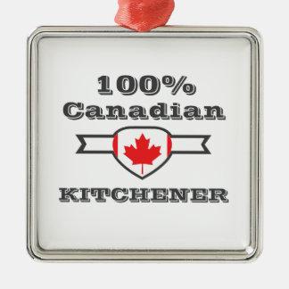 Ornement Carré Argenté Kitchener 100%