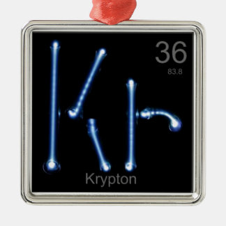Ornement Carré Argenté krypton