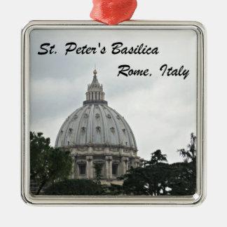 Ornement Carré Argenté La basilique de St Peter