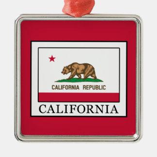 Ornement Carré Argenté La Californie