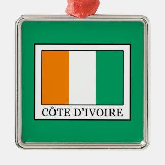 Ornement Carré Argenté La Côte d'Ivoire