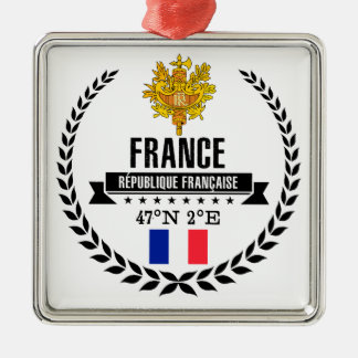Ornement Carré Argenté La France