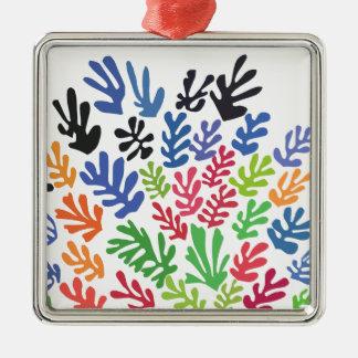 Ornement Carré Argenté La Gerbe par Matisse
