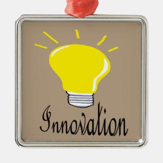 Ornement Carré Argenté la lumière de l'innovation