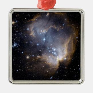 Ornement Carré Argenté La NASA intelligente d'étoiles de NGC 602
