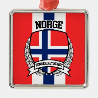 Ornement Carré Argenté La Norvège