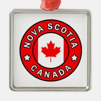 Ornement Carré Argenté La Nouvelle-Écosse Canada