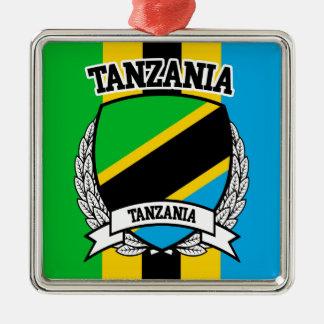Ornement Carré Argenté La Tanzanie