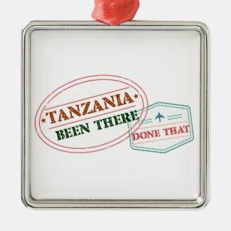 Ornement Carré Argenté La Tanzanie là fait cela