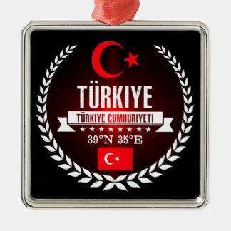 Ornement Carré Argenté La Turquie