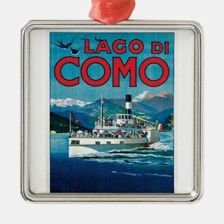 Ornement Carré Argenté Lago di Como