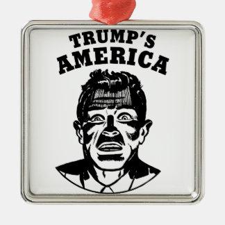 Ornement Carré Argenté L'Amérique de l'atout