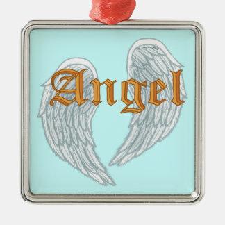Ornement Carré Argenté L'ange s'envole l'ornement de carré de prime