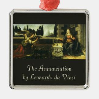 Ornement Carré Argenté L'annonce par Leonardo da Vinci