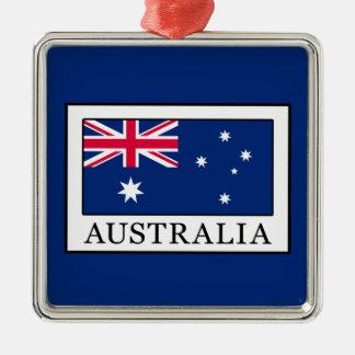 Ornement Carré Argenté L'Australie