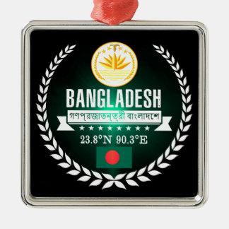 Ornement Carré Argenté Le Bangladesh