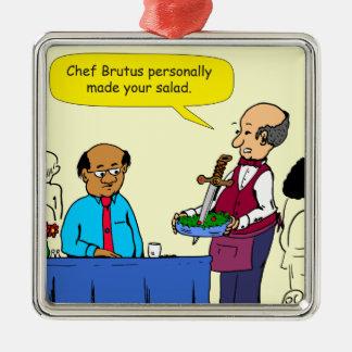 Ornement Carré Argenté Le Brutus de 904 chefs a fait la bande dessinée de