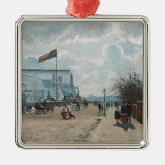 Ornement Carré Argenté Le ~ Camille Pissarro de Crystal Palace