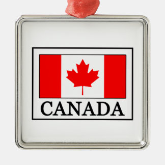 Ornement Carré Argenté Le Canada