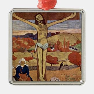 Ornement Carré Argenté Le Christ jaune par Paul Gauguin, beaux-arts