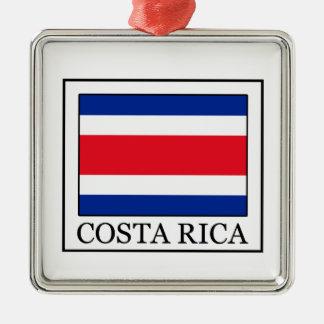 Ornement Carré Argenté Le Costa Rica