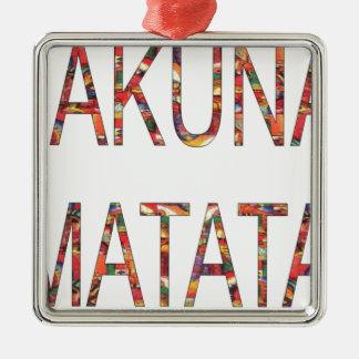Ornement Carré Argenté Le cru africain colore Hakuna Matata.jpg