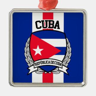 Ornement Carré Argenté Le Cuba
