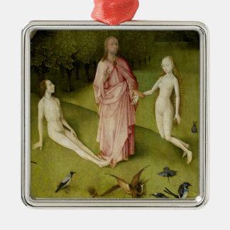 Ornement Carré Argenté Le jardin des plaisirs terrestres, 15ème siècle