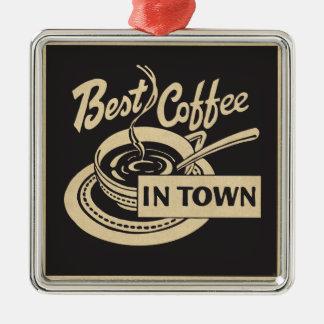 Ornement Carré Argenté Le meilleur café en ville