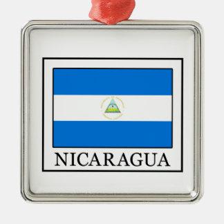 Ornement Carré Argenté Le Nicaragua