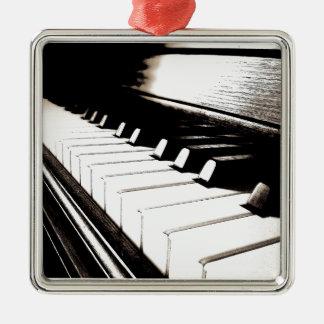 Ornement Carré Argenté Le piano verrouille le macro