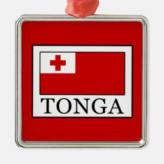 Ornement Carré Argenté Le Tonga