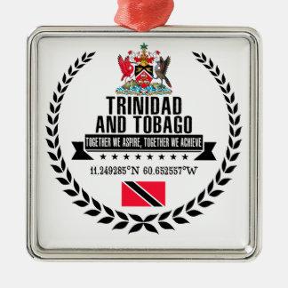 Ornement Carré Argenté Le Trinidad-et-Tobago