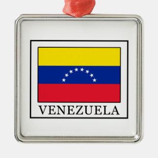 Ornement Carré Argenté Le Venezuela
