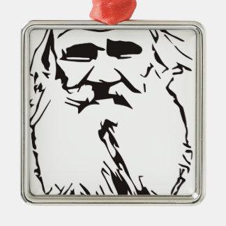 Ornement Carré Argenté Léon Tolstoï