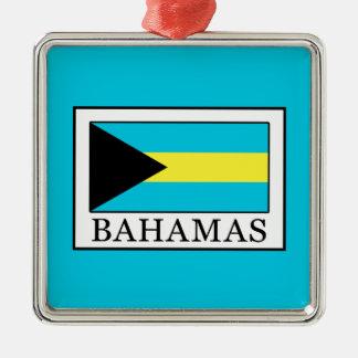 Ornement Carré Argenté Les Bahamas