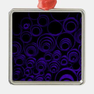 Ornement Carré Argenté Les cercles violets roule, motif d'abstraction