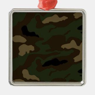 Ornement Carré Argenté les militaires camouflent le motif