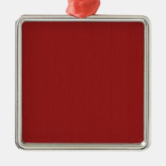 Ornement Carré Argenté Les nuances vides simples do-it-yourself de rouge